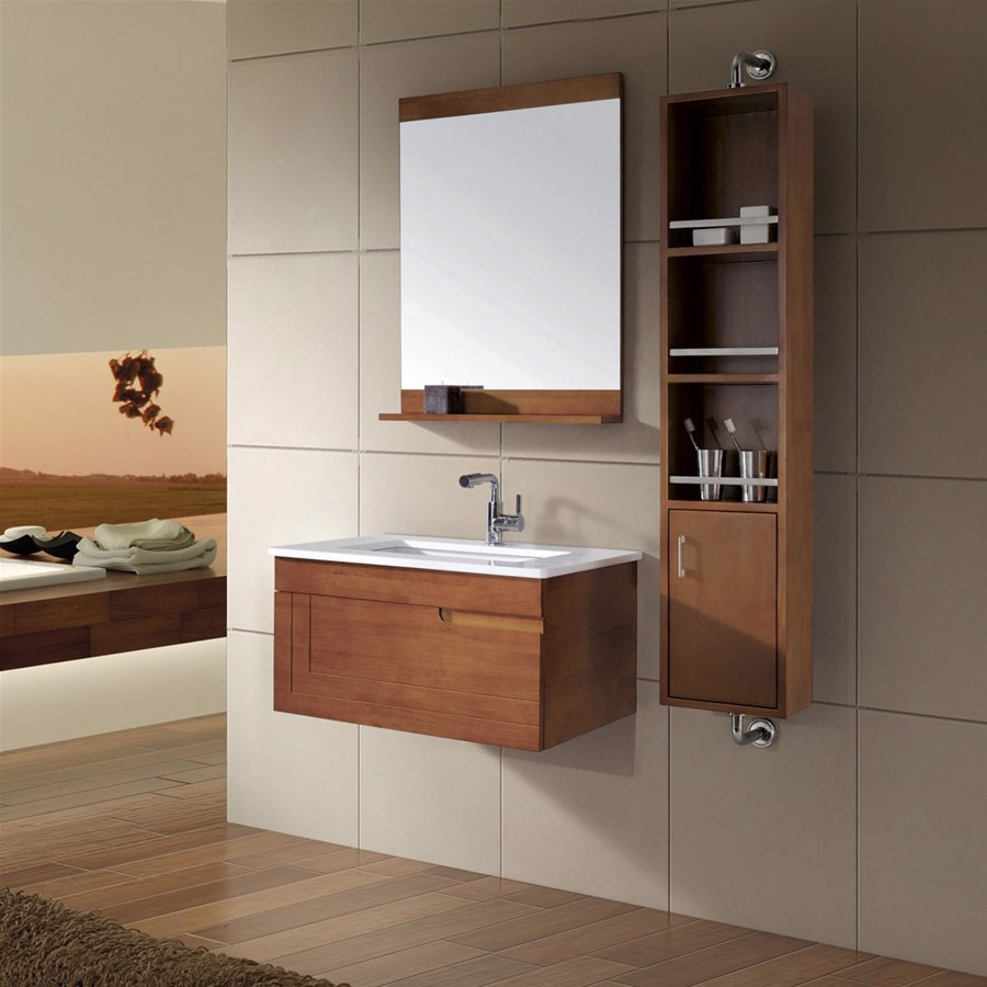Có nên lựa chọn gỗ làm tủ phòng tắm?