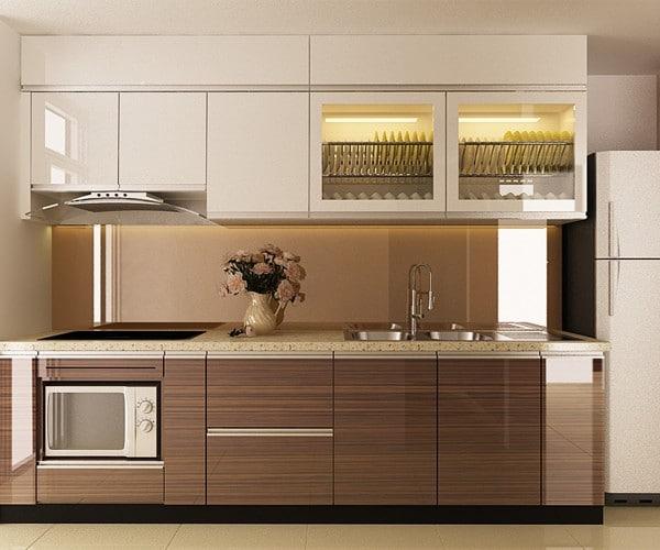 Tìm hiểu ưu điểm của tủ bếp MDF và báo giá tủ bếp MDF